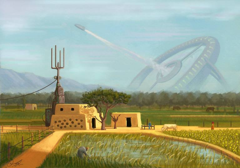 Somewhere In Punjab Sometime In The Future 1 - Omar Gilani Concept Art of Sci-Fi Pakistan Will Blow Your Mind