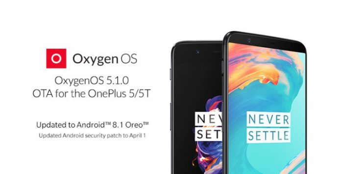 OTA OnePlus 5 5T Android 8.1 Oreo incremental update released