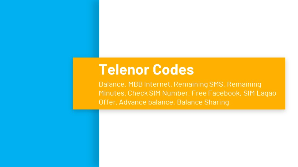 Telenor Service Codes