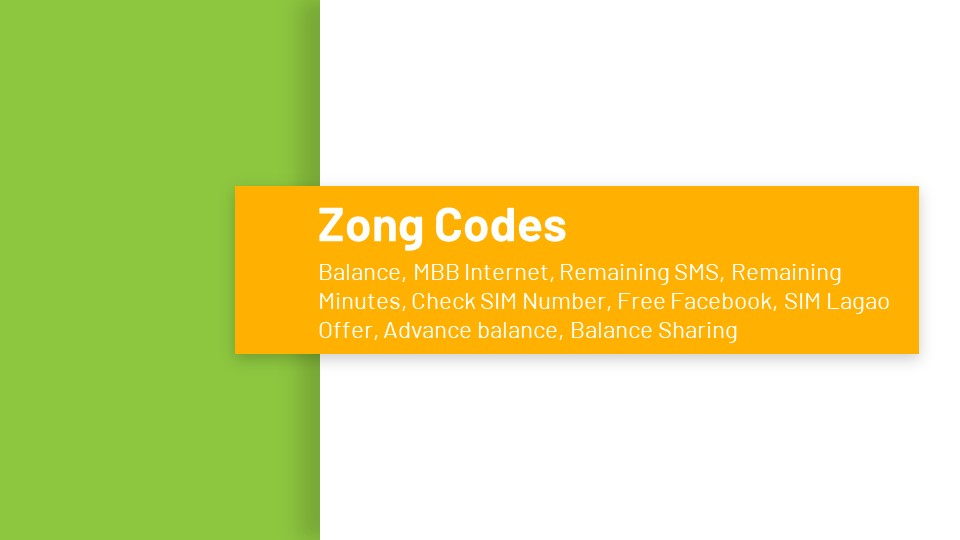 Zong Service Codes