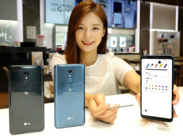 LG Q8 is announced with a big screen and stylus