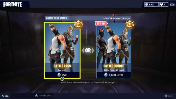 Fortnite Season 6 Battle Pass