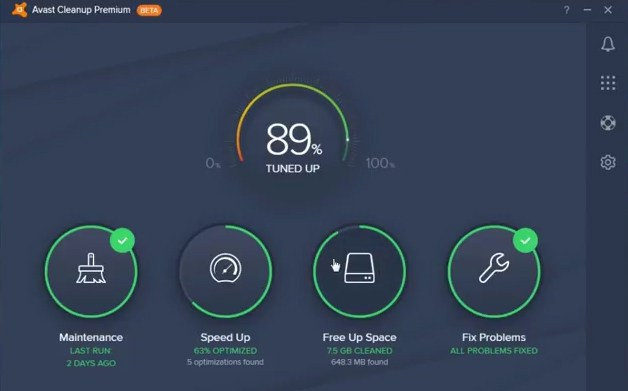 avast cleanup premium review interface