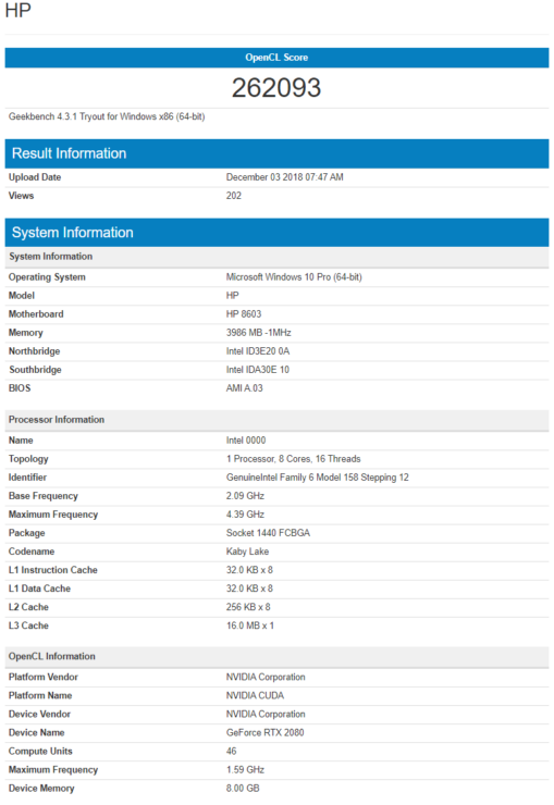 NVIDIA GeForce RTX 2080 Laptop and Max-Q Specs