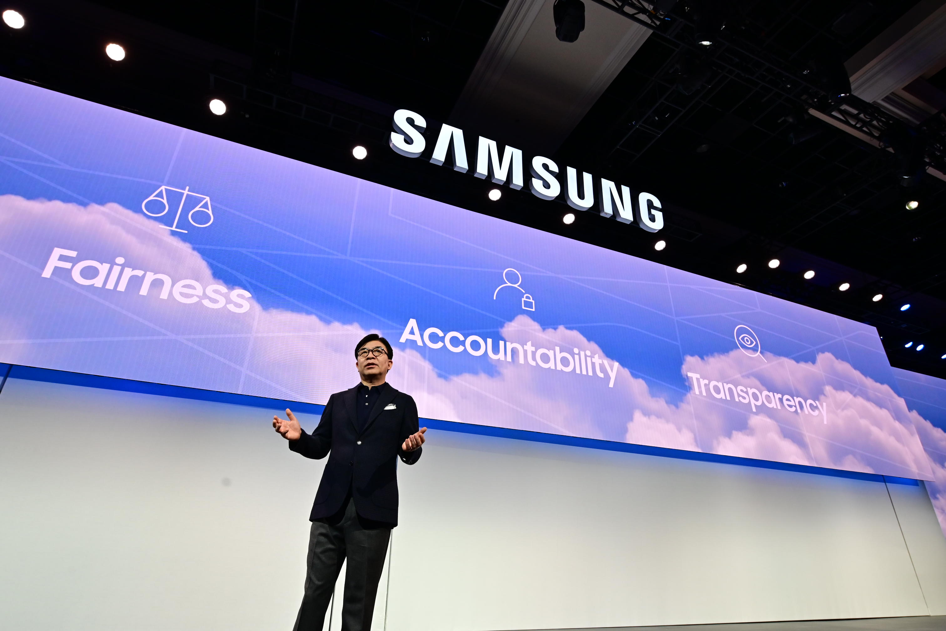 HS Kim President and CEO of Consumer Electronics Division Samsung Electronics at CES 2019 Samsung Press Conference