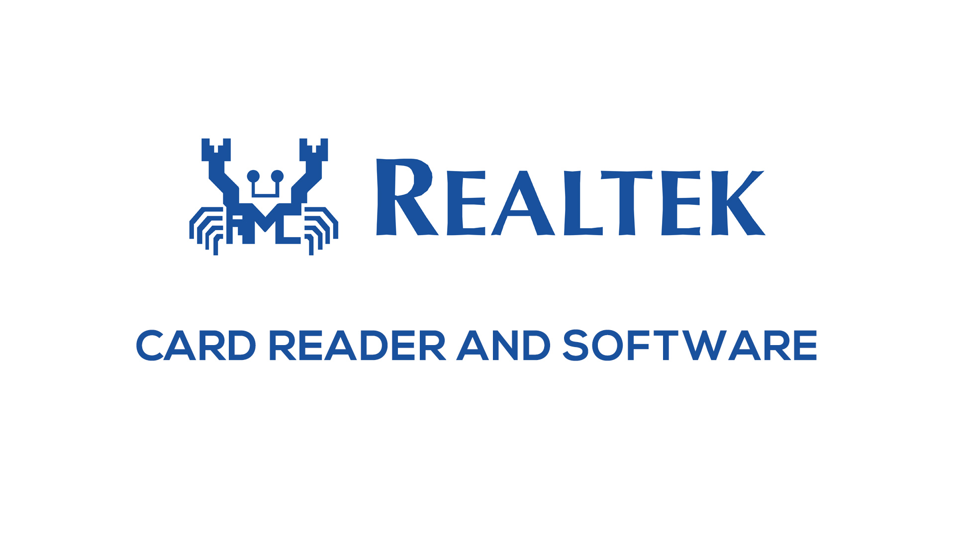 What Is Realtek Card Reader Software