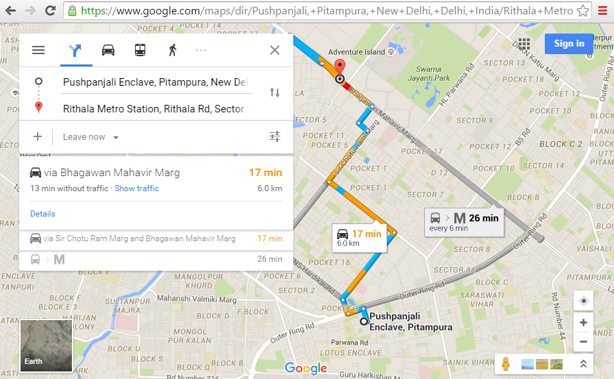 Get Directions Using Google Maps on