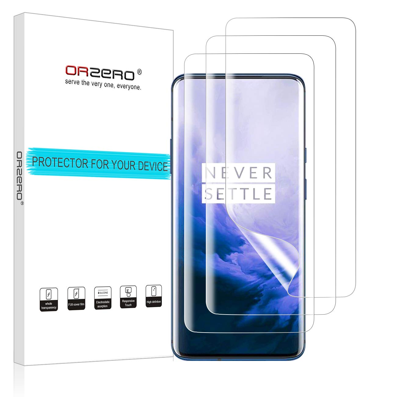 Orzero Screen Protector for OnePlus 7 Pro