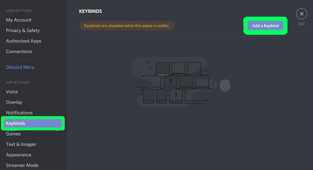 Keybinds