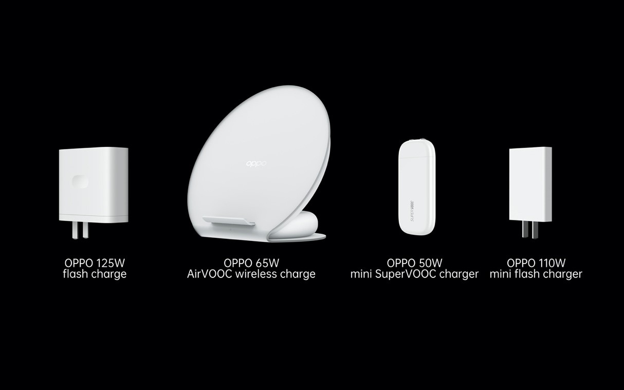 Fast - OPPO launches 125W flash charge, 65W AirVOOC wireless flash charge and 50W mini SuperVOOC charger