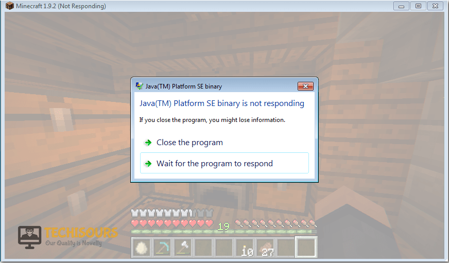 error 2 - 12 Methods to Fix Minecraft Keeps Crashing With Java Not Responding Errors