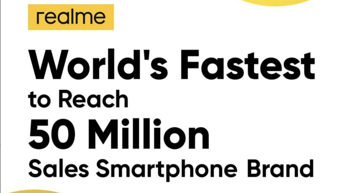 realmesalessmartphone 1 - realme crossed 50 Million units milestone; now offering C17 at discounted price
